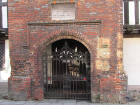 Main Entrance showing WWI Memorial Gates, erected in 1923